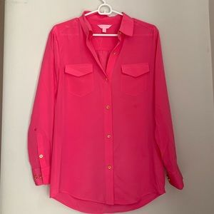 Hot Pink Lilly Blouse